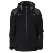 Spyder Tresh Womens Insulated Ski Jacket, Black-Black Linen Fabric, medium