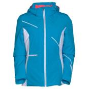 Spyder Prevail Womens Insulated Ski Jacket, Riviera-White-Riviera, medium