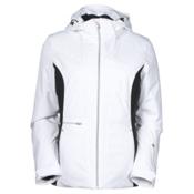 Spyder Prevail Womens Insulated Ski Jacket, White-Black-White, medium