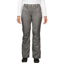 Spyder Me Tailored Fit Womens Ski Pants (Previous Season), Black Linen Fabric, 256