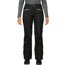 Spyder Me Tailored Fit Womens Ski Pants (Previous Season), Black Anti Plaid Print, 256
