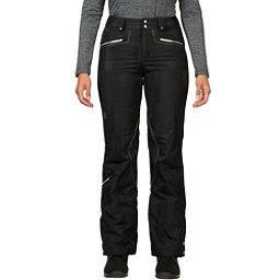 Spyder Me Tailored Fit Womens Ski Pants (Previous Season), Black Anti Plaid Print, 256