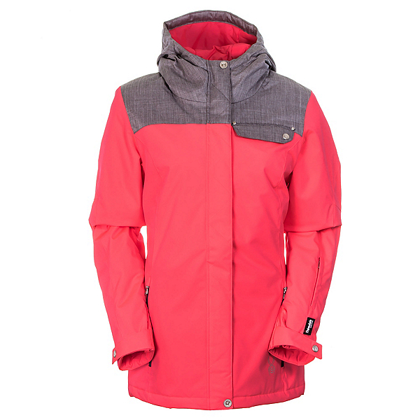 Spyder Empress Jacket Womens Insulated Ski Jacket (Previous Season), Bryte Pink-Graystone Crosshatch, 600
