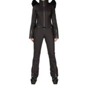 Spyder Eternity Softshell Womens One Piece Ski Suit, Black Denim, medium