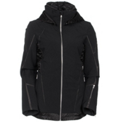 Spyder Prycise Womens Insulated Ski Jacket, Black-Black Denim, medium