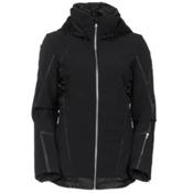 Spyder Prycise Womens Insulated Ski Jacket, Black-Black Denim, medium