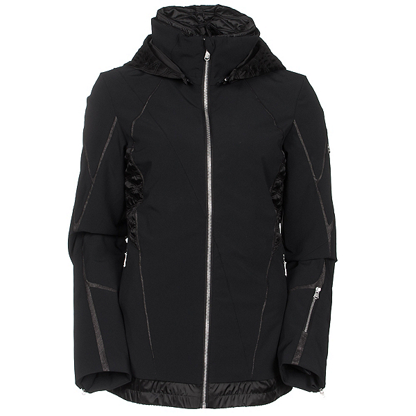 Spyder Prycise Womens Insulated Ski Jacket (Previous Season), Black-Black Denim, 600