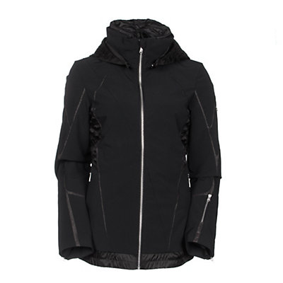 Spyder Prycise Womens Insulated Ski Jacket, Black-Black Denim, viewer