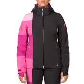 Spyder Temerity Womens Insulated Ski Jacket, Black-Wild-White, medium