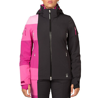Spyder Temerity Womens Insulated Ski Jacket (Previous Season), Bryte Pink-Riviera-White, viewer