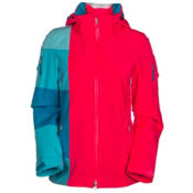 Spyder Temerity Womens Insulated Ski Jacket, Bryte Pink-Riviera-White, medium