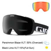 Giro Contact Goggles 2016, Black Wordmark-Black Limo + Bonus Lens, medium