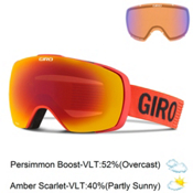 Giro Contact Goggles 2016, Glowing Red Monotone-Amber Sca + Bonus Lens, medium