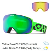 Giro Contact Goggles 2016, Bright Green 50-50- Loden Gre + Bonus Lens, medium