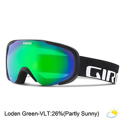 Giro Compass Goggles, Black Wordmark-Loden Green, viewer