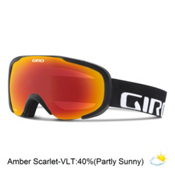 Giro Compass Goggles 2016, Black Wordmark-Amber Scarlet, medium
