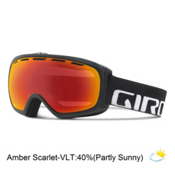 Giro Basis Goggles 2016, Black Wordmark-Amber Scarlet, medium