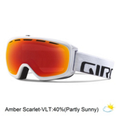 Giro Basis Goggles 2016, White Wordmark-Amber Scarlet, medium