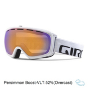 Giro Basis Goggles, White Wordmark-Persimmon Boost, medium
