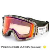 Giro Blok Goggles, Brown Camo-Persimmon Blaze, medium