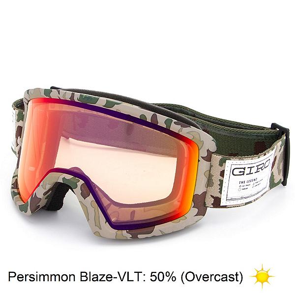 Giro Blok Goggles, Brown Camo-Persimmon Blaze, 600