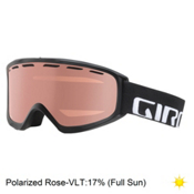 Giro Index OTG Goggles, Black Wordmark-Polarized Rose, medium