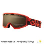 Giro Index OTG Goggles 2017, Red-Black 50-50-Amber Rose, medium