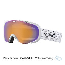 Giro Field Womens Goggles, White Mini Dots-Persimmon Boos, 256