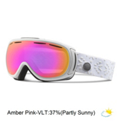 Giro Amulet Womens Goggles 2016, White Laurel-Amber Pink, medium
