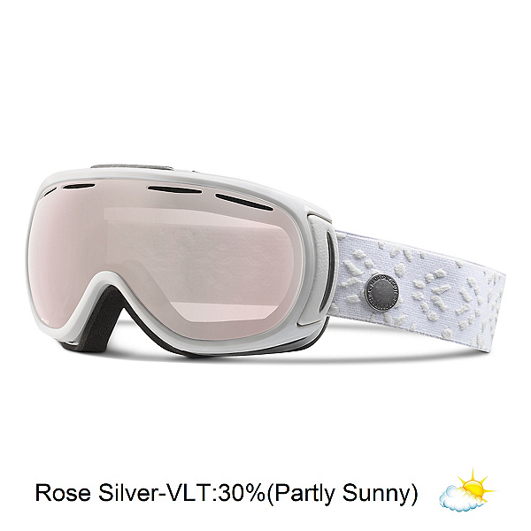 Giro Amulet Womens Goggles, White Laurel-Rose Silver, 600