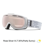 Giro Amulet Womens Goggles 2016, White Snake-Rose Silver, medium