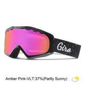 Giro Siren Womens Goggles, Black Hereafter-Amber Pink, medium