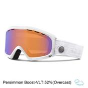 Giro Siren Womens Goggles, White Nordic-Persimmon Boost, medium