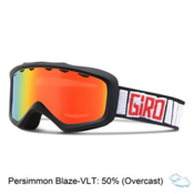 Giro Grade Kids Goggles, Black Rocker-Persimmon Blaze, medium