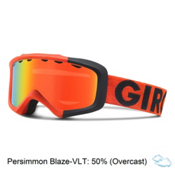 Giro Grade Kids Goggles, Glowing Red Color Block-Persim, medium