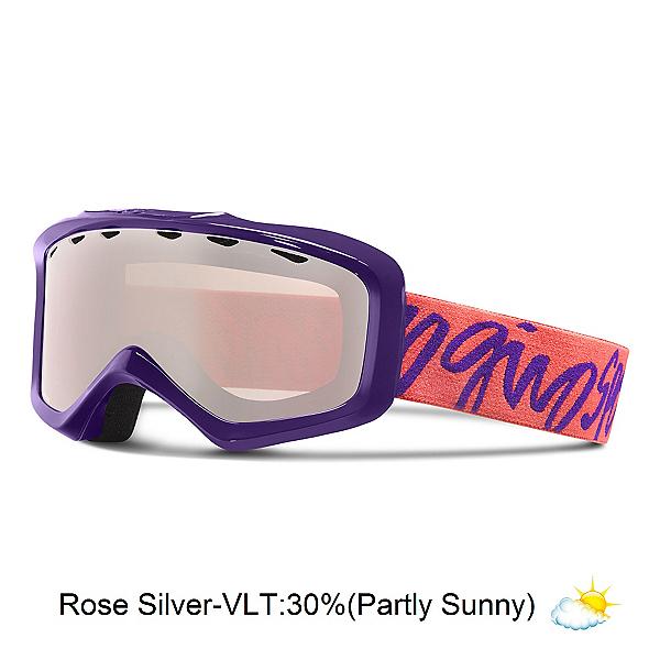 Giro Grade Kids Goggles, Purple Script-Rose Silver, 600