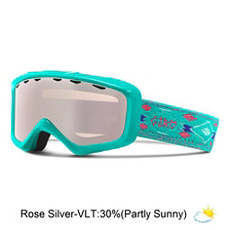 Giro Grade Kids Goggles, Turquoise Native-Rose Silver, 256