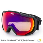 Giro Onset Goggles 2016, Black Wordmark-Amber Scarlet, medium
