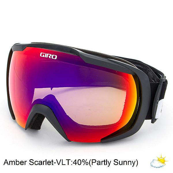 Giro Onset Goggles 2017, Black Wordmark-Amber Scarlet, 600