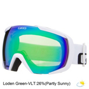 Giro Onset Goggles, White Wordmark-Loden Green, medium