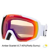 Giro Onset Goggles, White Wordmark-Amber Scarlet, medium
