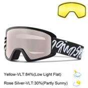 Giro Dylan Womens Goggles, Black Script-Rose Silver + Bonus Lens, medium