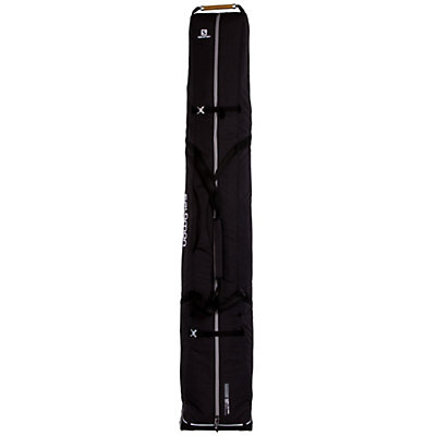 Salomon Connect 2 Pair Wheely Ski Sleeve Wheeled Ski Bag, Black, viewer