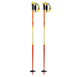 Salomon Hacker S3 Ski Poles, Orange-Yellow, 256