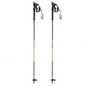 Salomon MTN Outdoor Ski Poles 2017, Black-Green, medium