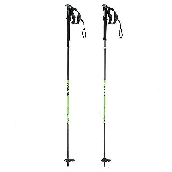 Salomon MTN Outdoor Ski Poles, Black-Green, 600