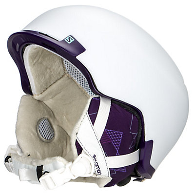 Salomon Shiva Custom Air Womens Helmet, Matte White-Indigo, viewer