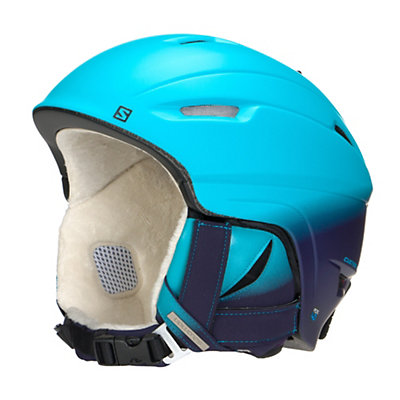Salomon Icon 4D Custom Air Womens Helmet, Scuba Blue-Eggplant, viewer