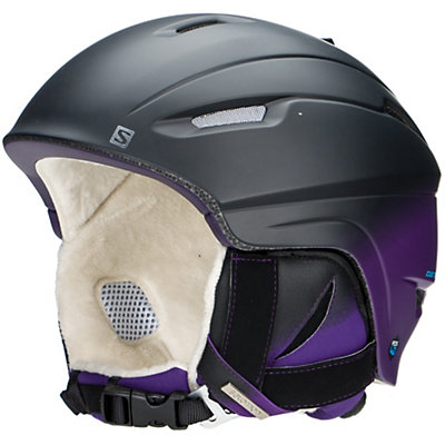 Salomon Icon 4D Custom Air Womens Helmet, Scuba Blue-Eggplant, viewer