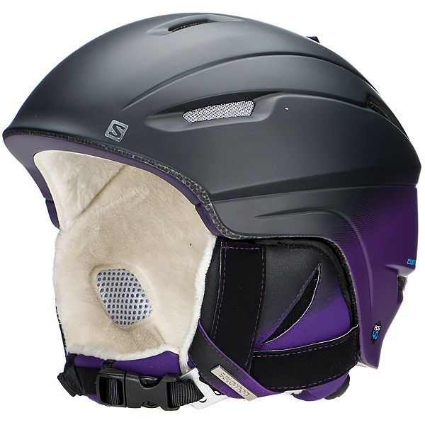 Salomon Icon 4D Custom Air Womens Helmet, Black Mat-Purple, 600